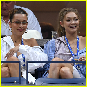 Bella Hadid Joins Big Sister Gigi at U.S. Open!