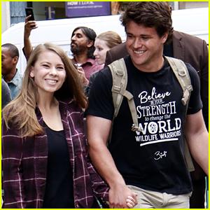 Chandler Powell Joins Girlfriend Bindi Irwin For 'Crikey' Promo in NYC