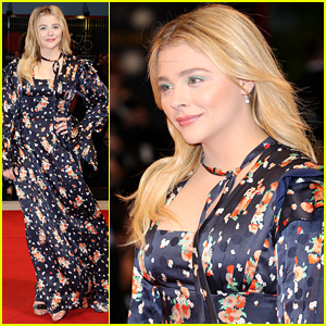 Chloe Moretz Wears Floral Dress to Venice Premiere of 'Suspiria'