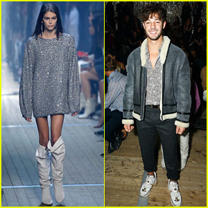 Cameron Dallas Supports Kaia Gerber at Isabel Marant Fashion Show