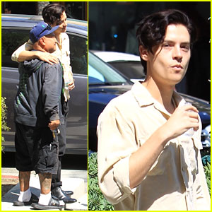 Cole Sprouse Snaps a Pic With a Fan While Running Errands in LA