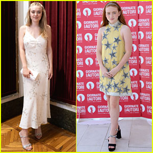Dakota Fanning & Sadie Sink Are Miu Miu Ladies at Women's Tales Photo Call