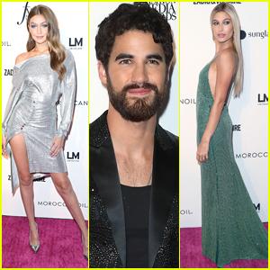 Host Darren Criss Joins Gigi Hadid & Hailey Baldwin at Fashion Media Awards!