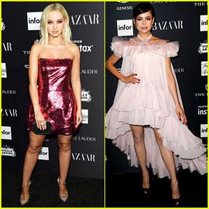 Dove Cameron & Sofia Carson Are Pretty in Pink at Harper's Bazaar Icons Event
