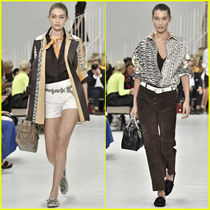 Gigi Hadid & Sister Bella Don Snakeskin-Inspired Looks in Moda Donna Fashion Show
