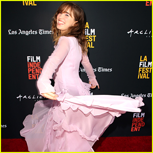 Haley Lu Richardson Can't Stop Twirling at 'The Chaperone' Premiere in LA