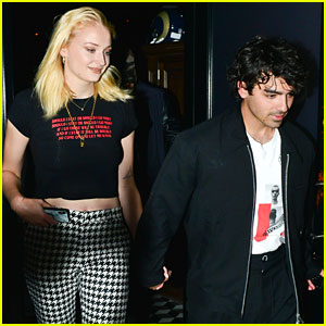 Joe Jonas & Fiancee Sophie Turner Hold Hands for Date Night in WeHo