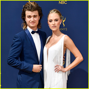 Joe Keery & Maika Monroe Make One Stunning Couple at Emmy Awards 2018