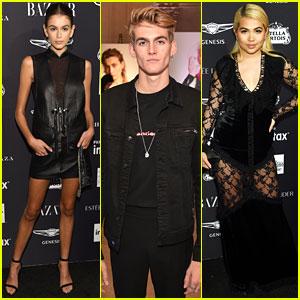 Kaia & Presley Gerber Join Hayley Kiyoko & More Stars at Harper's Bazaar Icons Party