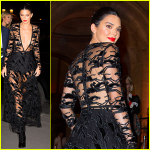 Kendall Jenner Is Sheerly Stunning in Paris!
