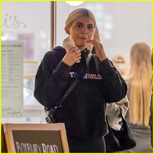 Kylie Jenner Wears a Travis Scott Sweatshirt While Picking Up a Sweet Treat!