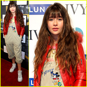 Malina Weissman Rocks Mickey Mouse Overalls at Style360 in NYC