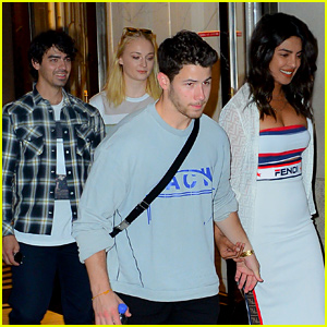 Nick & Joe Jonas Attend the U.S. Open with Their Fiancees!