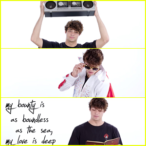 Noah Centineo Recites Shakespeare, Makes Pizza & More in New Video