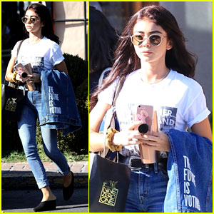 Sarah Hyland Wears an Important Message on Her Jacket