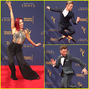 Sharna Burgess Teases Her DWTS Season 27 Partner Before Hitting Creative Arts Emmys 2018