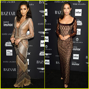 Shay Mitchell & Chloe Bridges Have a 'Pretty Little Liars' Reunion at Harper's Bazaar Icons Party!