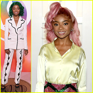 Skai Jackson Tries Out Pink & Green Hair For NYFW!