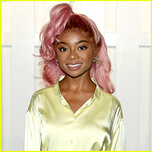 Skai Jackson Has A Message For Haters Who Didn't Like Her Pink & Green Hair During NYFW