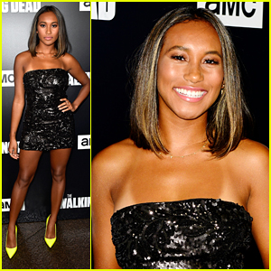 Sydney Park Glams Up For 'Walking Dead's Premiere Party