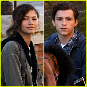 Zendaya & Tom Holland Continue Shooting 'Spider-Man: Far From Home' in Italy!
