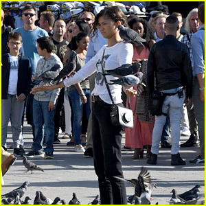 Zendaya Is Covered with Pigeons While Filming 'Spider-Man: Far From Home'