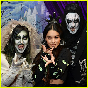 Vanessa Hudgens Channels Her Inner Monster at Knott's Scary Farm With Austin Butler!