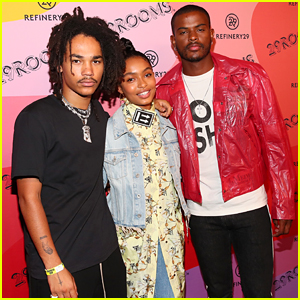 Yara Shahidi Reunites With 'Grown-ish' Guys Luka Sabbat & Trevor Jackson During NYFW