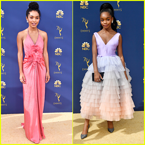 Yara Shahidi & Marsai Martin Get Colorful With Chic Looks at Emmy Awards 2018