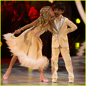 DWTS Juniors: Spelling Bee Champ Akash Vukoti Foxtrots With Kamri Peterson - Watch Now!