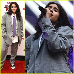 Alessia Cara Suits Up at iHeartRadio's Z100 Jingle Ball Kick-Off Event