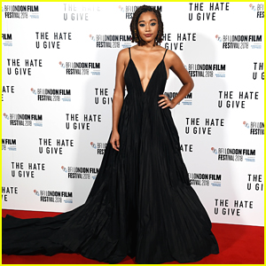 Amandla Stenberg Goes Glam for 'The Hate U Give' London Premiere!