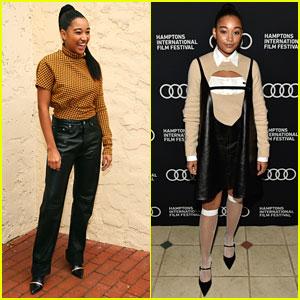 Amandla Stenberg Brings Two Fashionable Looks to Hamptons Film Festival