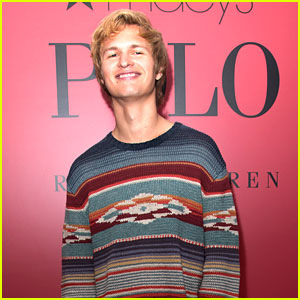 Ansel Elgort is All Smiles at Launch of Polo Red Rush Fragrance Line