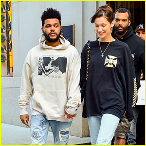 The Weeknd & Bella Hadid Look Cute Together Hand In Hand in NYC!