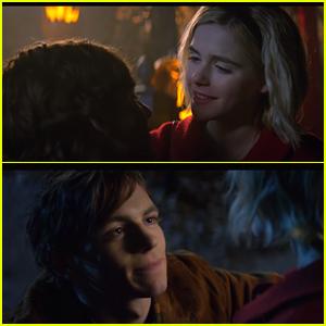 Ross Lynch & Kiernan Shipka Share Cute Kiss In New 'Chilling Adventures of Sabrina' Trailer - Watch!