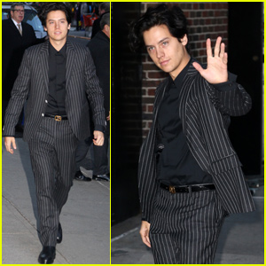 Cole Sprouse Looks Sharp at 'Late Show' Taping