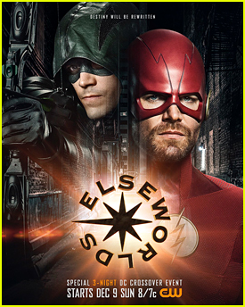 Grant Gustin & Stephen Amell Switch Superhero Identities in 'Elseworlds' Crossover Poster
