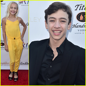 DWTS Juniors' Kami Couch, Jake Monreal & Sage Rosen Stop By RIDE Foundation's Dance For Freedom