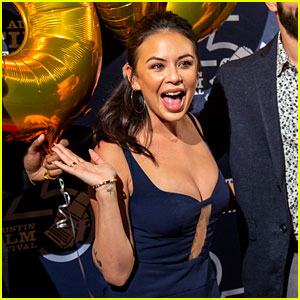 Janel Parrish Gets a Birthday Surprise During 'Tiger' Screening at Austin Film Festival!