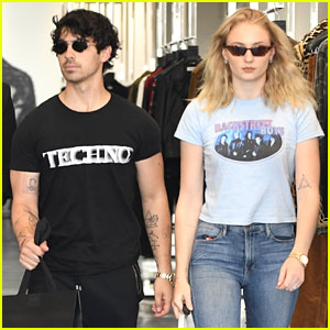 Joe Jonas & Sophie Turner Don Musical T-Shirts While Out in Beverly Hills