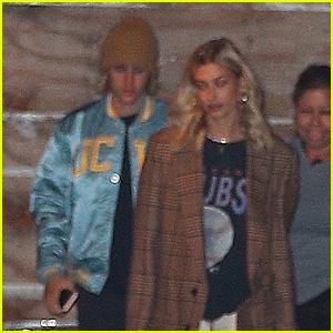 Justin Bieber & Hailey Baldwin Head to a Late Night Church Service Together!