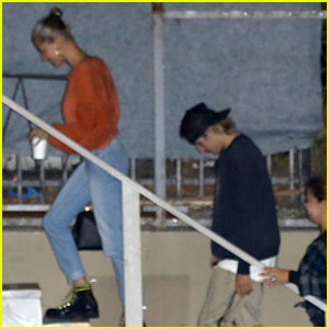 Justin Bieber & Hailey Baldwin Go to a Late Night Church Service Together!