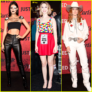 Victoria Justice Dresses as a Ouija Board at Just Jared's Halloween Party Presented by Carl's Jr.