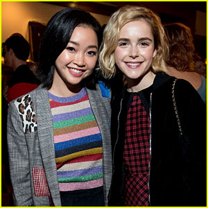Kiernan Shipka & Lana Condor Check Out 'Chilling Adventures of Sabrina' Preview at the Spellman House!