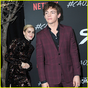 Kiernan Shipka Sneaks Up on Ross Lynch at 'Sabrina' Premiere