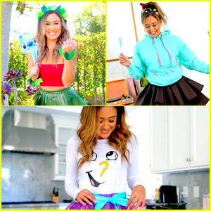 LaurDIY Transforms Into Vanellope Von Schweetz For Halloween Video - Watch!