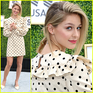 Melissa Benoist is a Polka Dot Darling at CW's Fall Launch Event