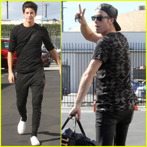 Milo Manheim & Witney Carson Get In Trio Week Practice With Riker Lynch