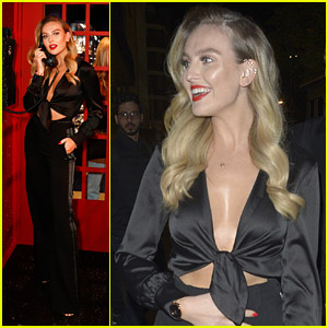 Perrie Edwards Rocks Bold Red Lip For Swarovski's Oxford Store Event